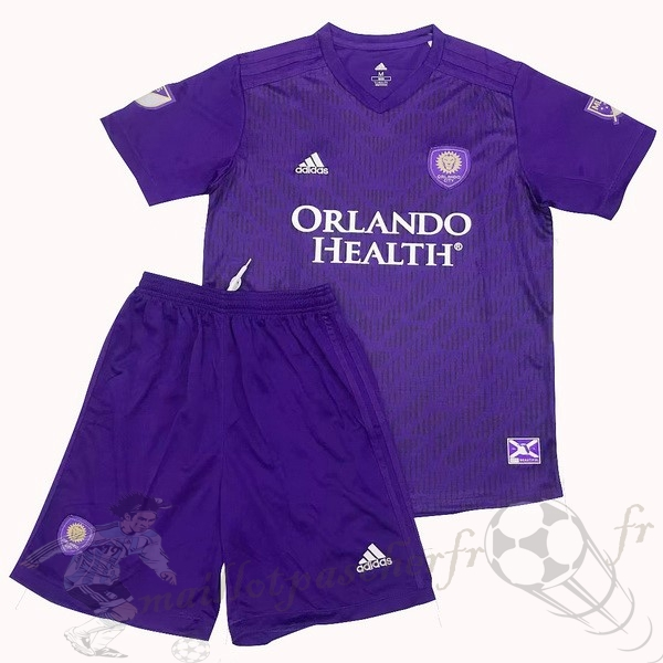 Equipement Maillot Foot Adidas DomiChili Conjunto De Enfant Orlando City 2019 2020 Purpura