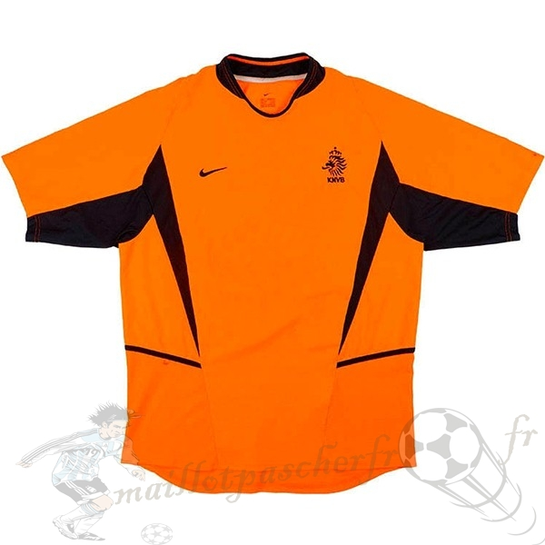 Equipement Maillot Foot Nike Domicile Maillot Pays Bas Retro 2002 Orange