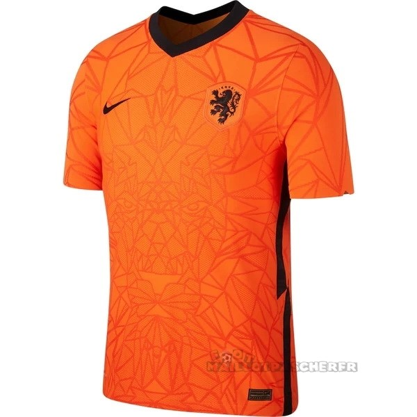 Equipement Maillot Foot Nike Thailande Domicile Maillot Pays-Bas 2020 Orange