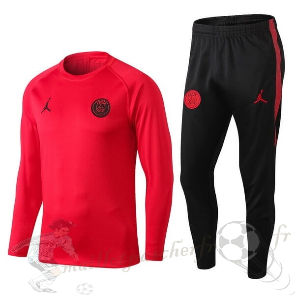 Equipement Maillot Foot JORDAN Survêtements Paris Saint Germain 2018 2019 Rouge Clair