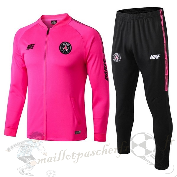 Equipement Maillot Foot Nike Survêtements Paris Saint Germain 2019 2020 Rose Noir