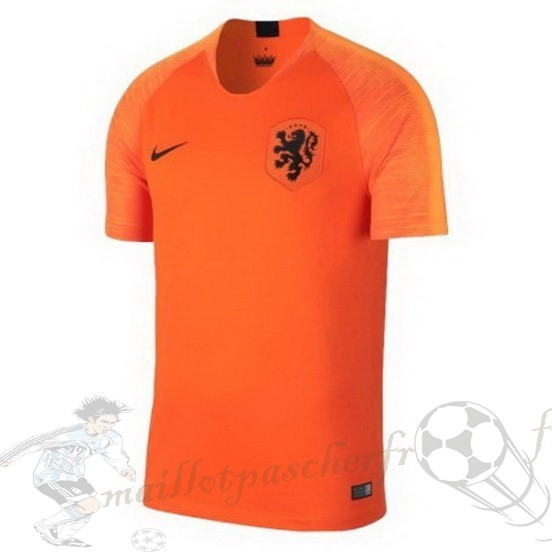 Equipement Maillot Foot Nike Thailande Domicile Maillot Pays-Bas 2018 Orange