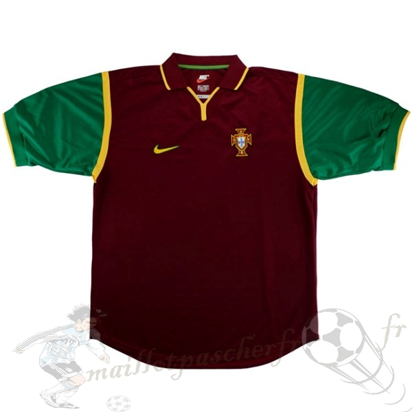 Equipement Maillot Foot Nike Domicile Maillot Portugal Rétro 1999 Rouge