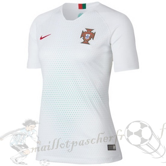 Equipement Maillot Foot Nike Exterieur Maillot Femme Portugal 2018 Blanc