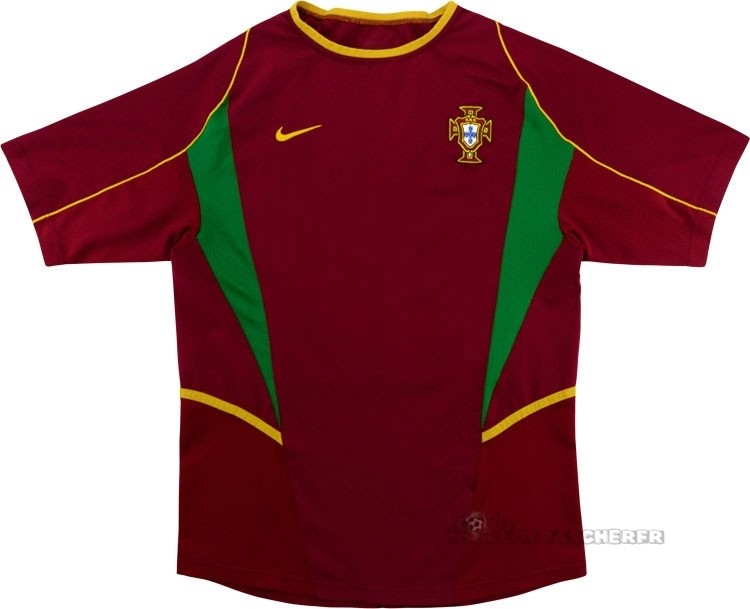Equipement Maillot Foot Nike Domicile Maillot Portugal Rétro 2002 Rouge