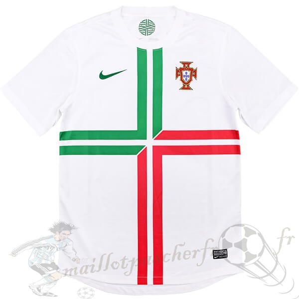 Equipement Maillot Foot Nike Exterieur Maillot Portugal Retro 2012 Blanc