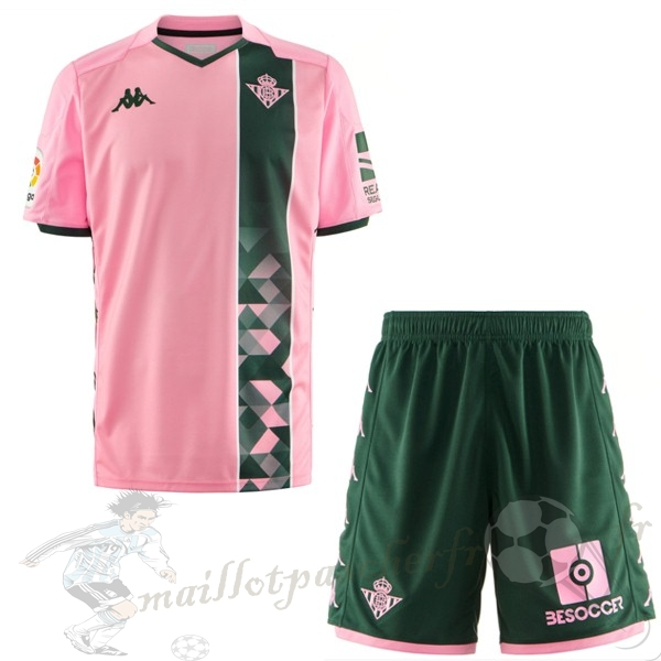 Equipement Maillot Foot Kappa Third Ensemble Enfant Real Betis 2019 2020 Rose