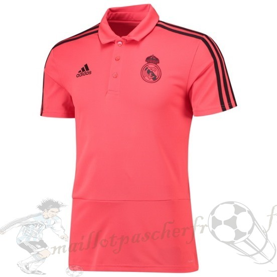 Equipement Maillot Foot Adidas Polo Real Madrid 2018 2019 Rose