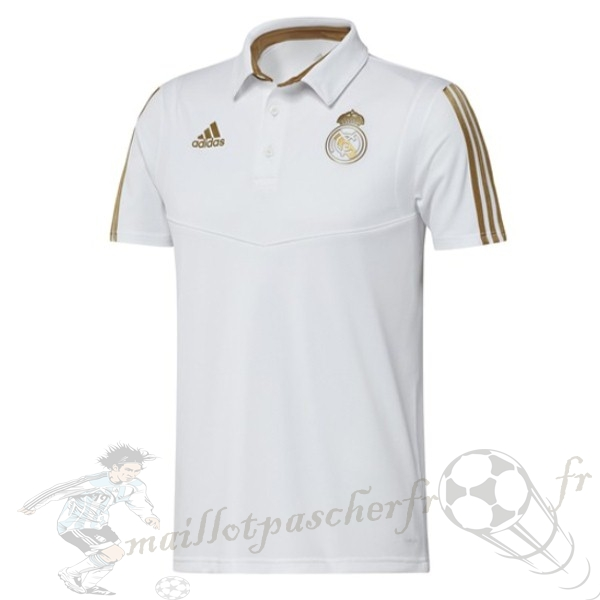 Equipement Maillot Foot adidas Polo Real Madrid 2019 2020 Jaune Blanc