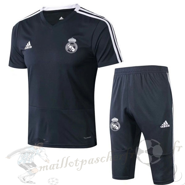 Equipement Maillot Foot Adidas Entrainement Set Completo Real Madrid 2019 2020 Noir