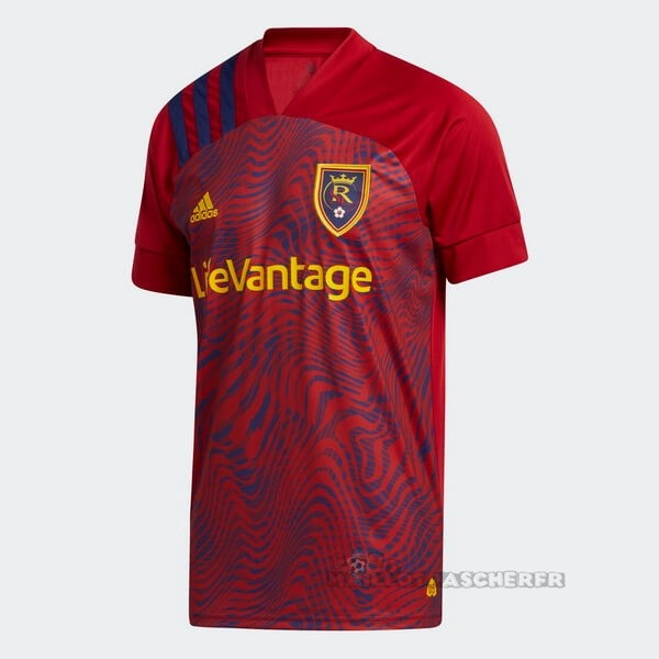 Equipement Maillot Foot adidas Domicile Maillot Real Salt Lake 2020 2021 Rouge