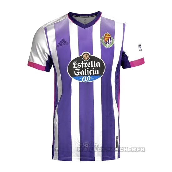 Equipement Maillot Foot adidas Domicile Maillot Real Valladolid 2020 2021 Blanc Purpura