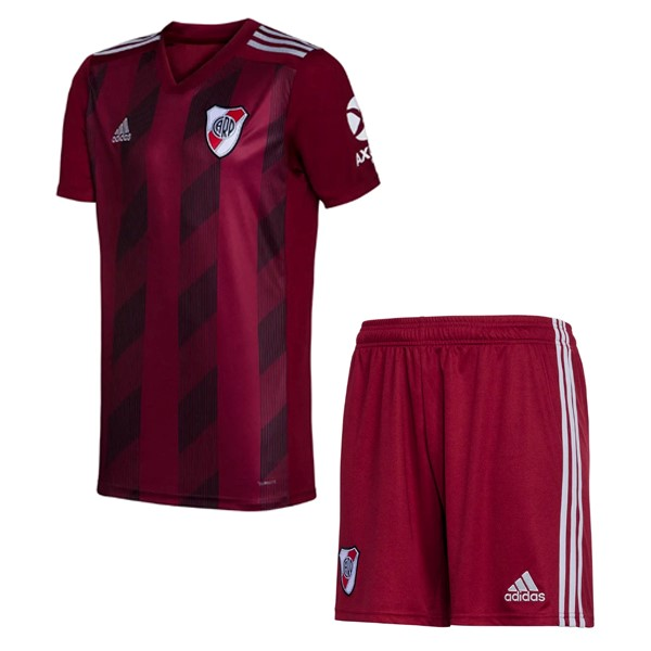 Equipement Maillot Foot adidas Third Ensemble Enfant River Plate 2019 2020 Rouge