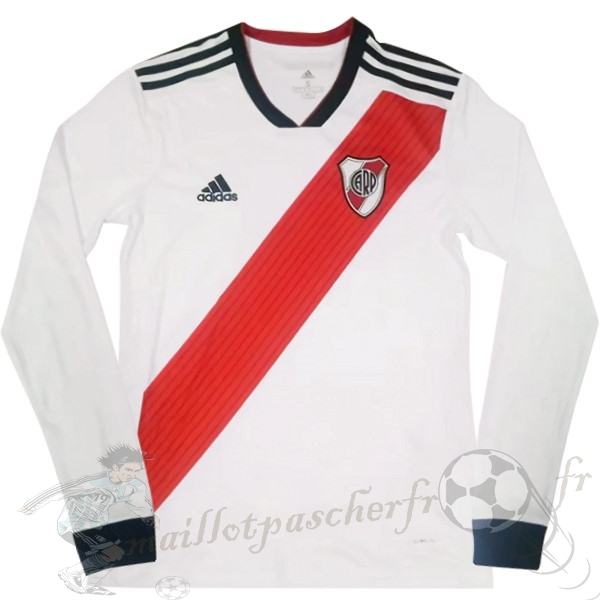 Equipement Maillot Foot Adidas DomiChili Manches Longues River Plate 2018 2019 Blanc