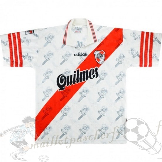Equipement Maillot Foot Adidas Domicile Maillot River Plate Rétro 1996 Blanc