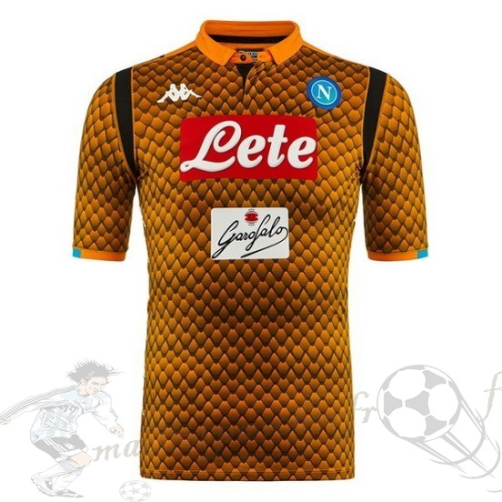 Equipement Maillot Foot Adidas Maillot Gardien Napoli 2018 2019 Orange