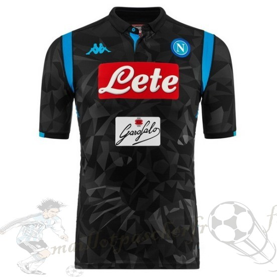 Equipement Maillot Foot Kappa Exterieur Maillot Napoli 2018 2019 Noir