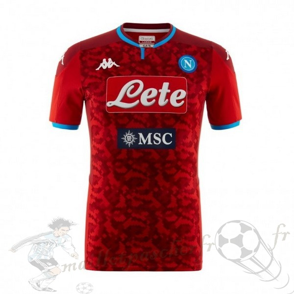 Equipement Maillot Foot Kappa Maillot Gardien Napoli 2019 2020 Rouge