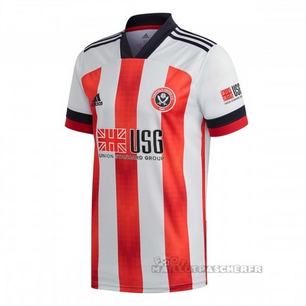 Equipement Maillot Foot adidas Domicile Maillot Sheffield United 2020 2021 Rouge