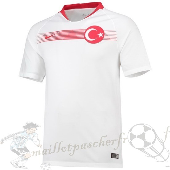 Equipement Maillot Foot Nike Exterieur Maillot Turquie 2018 Blanc