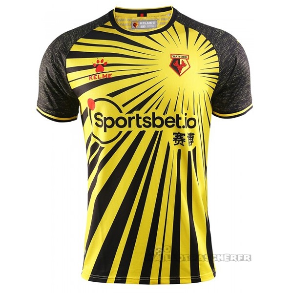 Equipement Maillot Foot adidas Domicile Maillot Watford 2020 2021 Jaune