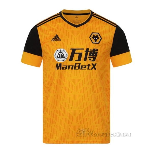 Equipement Maillot Foot adidas Domicile Maillot Wolves 2020 2021 Jaune